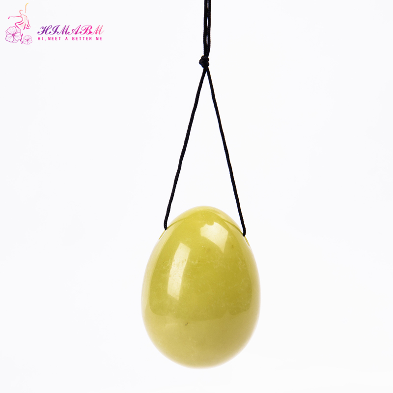 HIMABM Natural 1 Piece Lemon Jade Egg For Kegel Exercise Pelvic Floor Muscles Vaginal Exercise Yoni Egg Ben Wa Ball
