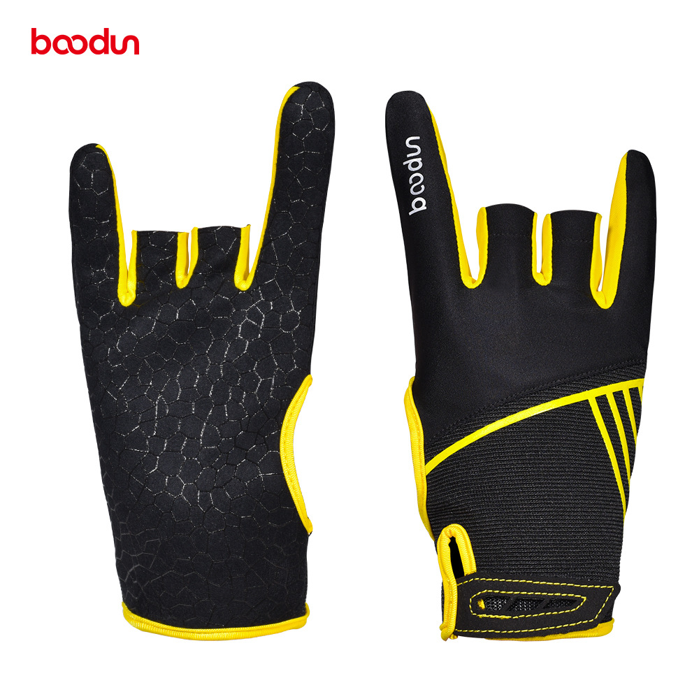 1 Pair Boodun Professional Men Women Bowling Gloves Antislip Elastic Breathable Sports Bowling Ball Mittens Bowling Accessories