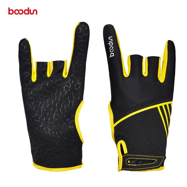 1 Pair Boodun Professional Men Women Bowling Gloves Antislip Elastic Breathable Sports Bowling Ball Mittens Bowling Accessories