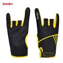 1 Pair Boodun Professional Men Women Bowling Gloves Antislip