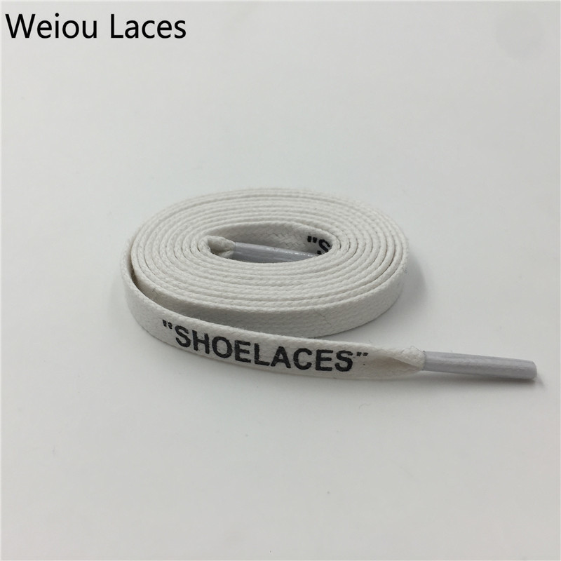 168b05478 Weiou Heavy Duty Waxed Cotton Flat Shoe Laces With Handmade Printing