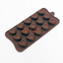 new arrival novelty silicone chocolate mold ice tray mould 15 love heart silicone cake mold CDSM-099