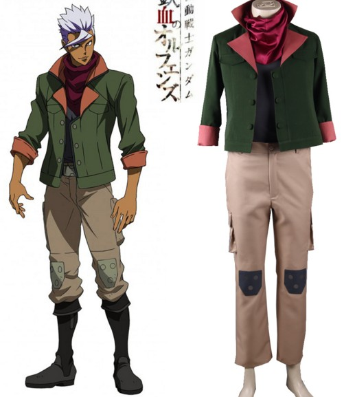 Japanese Hot Anime MOBILE SUIT IRON BLOODED ORPHANS GUNDAM cosplay Orga Itsuka Halloween party costume