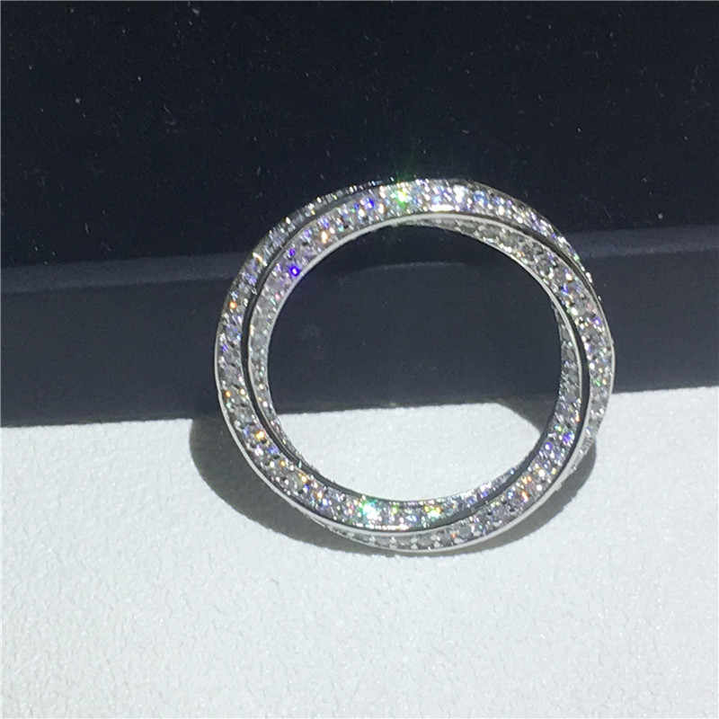 infinity ring 925 Sterling silver Micro pave AAAAA Cubic Zirconia Engagement Wedding Band Rings for women Party Jewelry