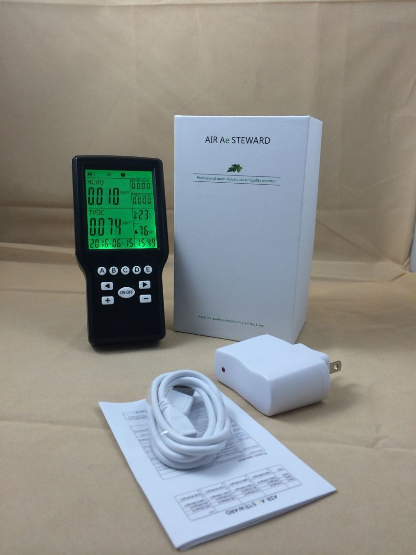 Free Shipping Indoor Air Quality Monitor,HCHO Tester,Air Quality Analyzer TOVC Analyzer
