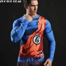Dragon ball Men Long Sleeve T shirt Compression T-shirt Fitness Bodybuilding Camiseta Long Sleeve Anime Tee Funny ZOOTOP BEAR