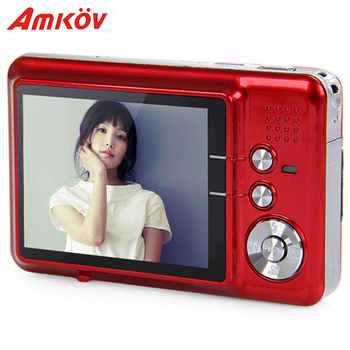 Amkov AMK-CDFE Professional Camera 8mp 2.7 Inch Aluminum + plastic Support multi-Language Mini Portable HD Camera Digital Camera