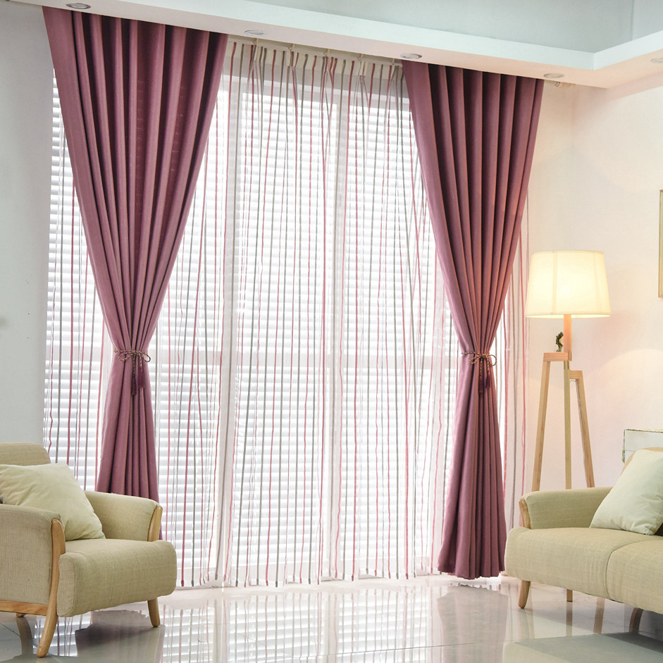 LOZUJOJU Plain Dyed Blackout Curtain Kitchen Door Window Curtains For  Living Room Full Shade Panel Solid Color Window Treatments In Curtains From  Home ...
