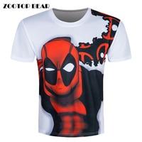 Deadpool Print T Shirt Men 3D T Shirt Skate Short Sleeve Summer Brand Clothing Male Camisa