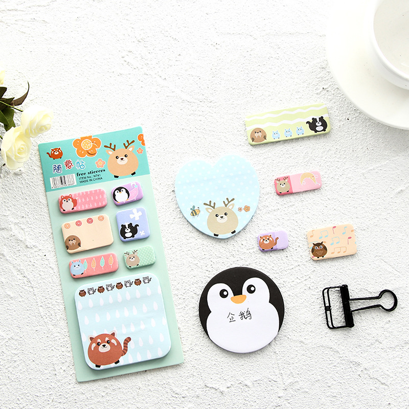 Animals Party Memo pad kawaii sticky post sticky notes N Times Sticky Notes memo Notepad papelaria stationery school supplies