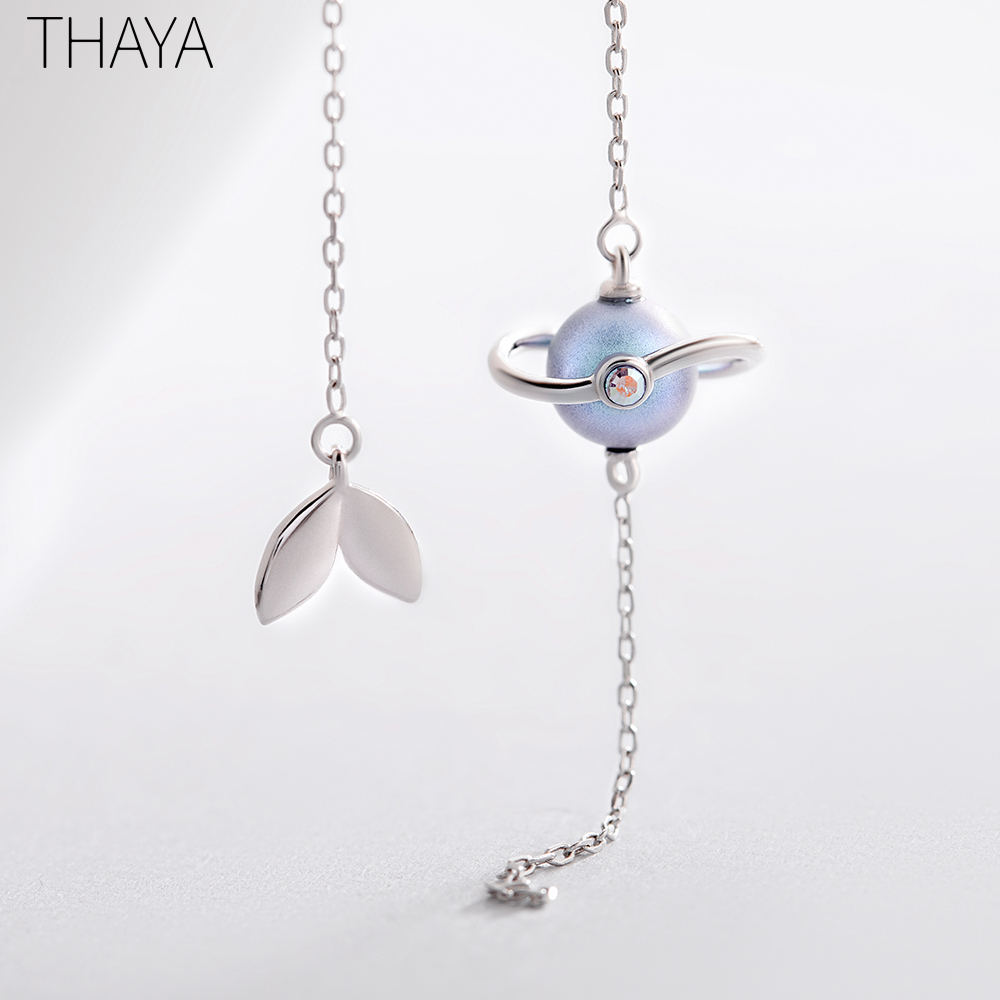 Thaya 925 Silver Earrings Midsummer Nights Dream Design Pendant Earrings Vintage Fantasy style Party Jewelry For Women GiftThaya 925 Silver Earrings Midsummer Nights Dream Design Pendant Earrings Vintage Fantasy style Party Jewelry For Women Gift