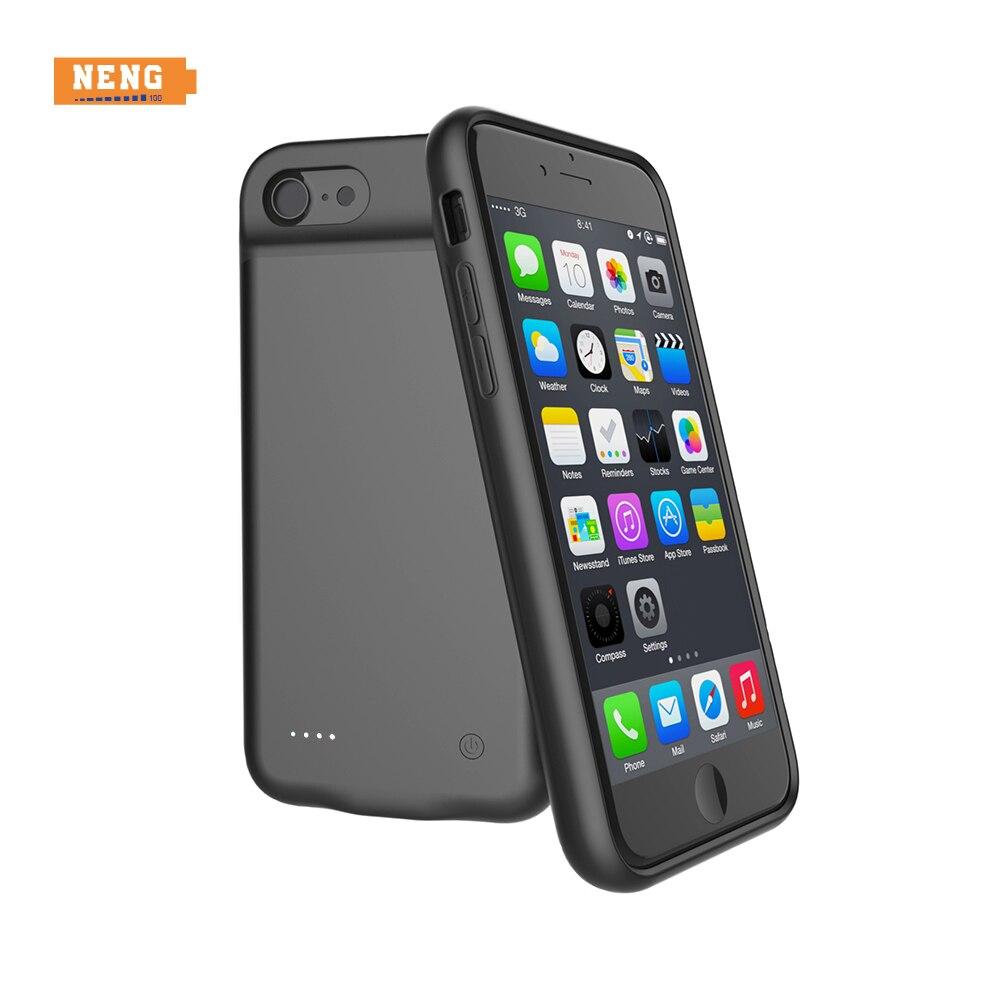 NENG Haute Qualité 4000 mAh Cas De Charge De Batterie Externe De Protection Chargeur Power Bank pour iPhone 6 6 s Plus 7 plus 5.5 pouces