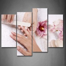 HD prints 4pieces canvas wall art print Nail poster painting canvas modern home decor wall art for living room decor painting