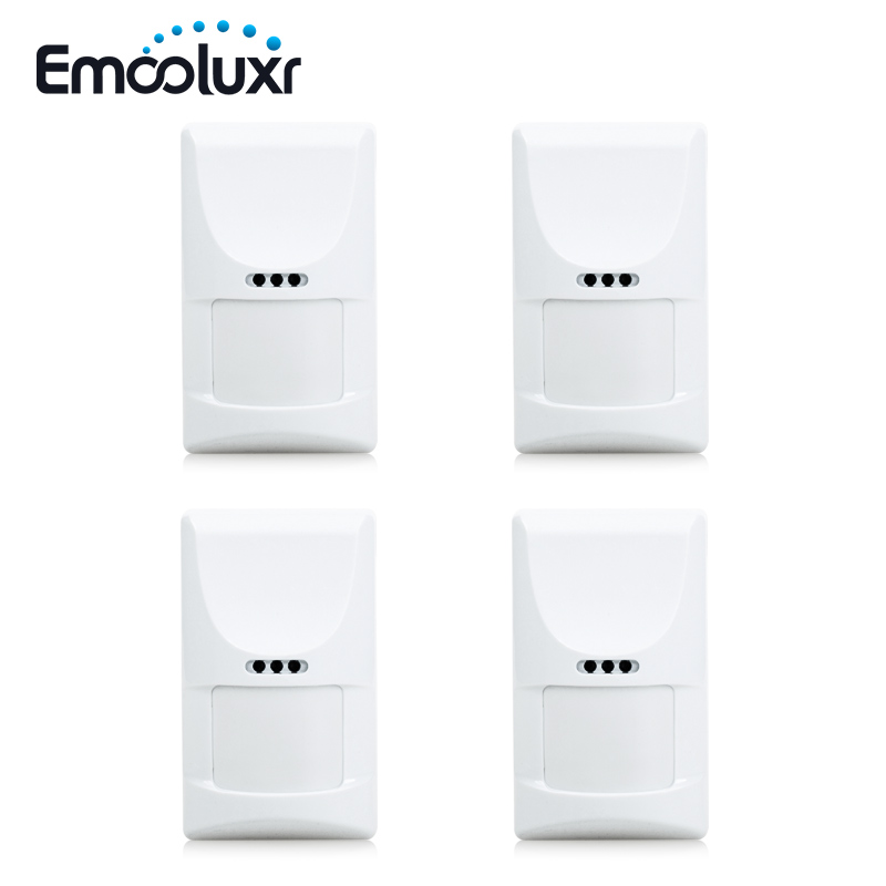 4pcs/lot Wireless Smart Home Motion Detector Sensor Anti-pet PIR Motion Detector for Home Burglar Alarm System 433mhz 433mhz home burglar security alarm system waterproof wireless outdoor siren kit with door sensor pir motion detector smart home