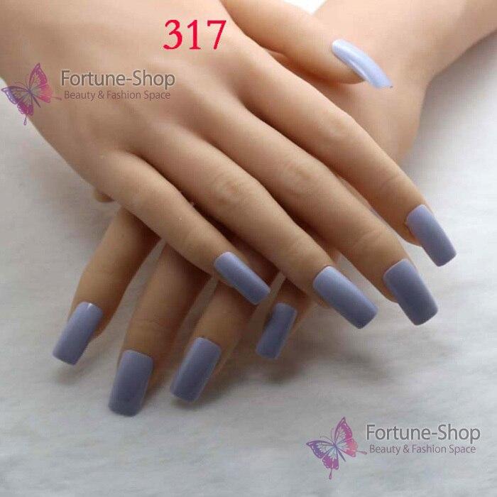 TKGOES 20pcs Fake Nails Light Blue Acrylic Nail Tips Plastic False ...