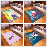 Childrens cartoon cute unicorn pattern rugs and carpets for home living room Tea table bedroom carpet Baby crawl Mat tapis salon
