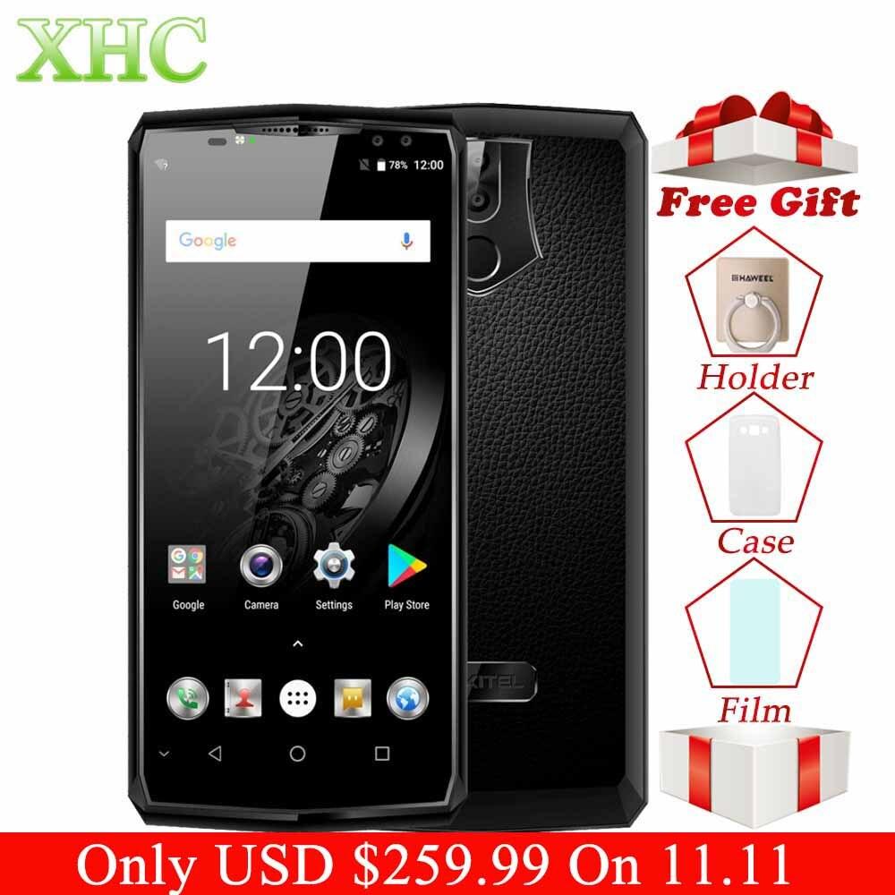 Oukitel K10 6.0 pollice 6 gb di RAM 64 gb ROM Smartphone 11000 mah Android 7.0 Helio P23 Octa Core 16MP + 8MP Viso ID 4g LTE Telefoni cellulari e Smartphone