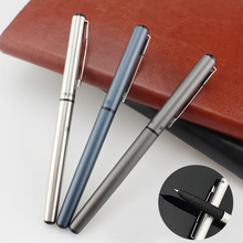 Luxury Metal Fountain Pen 0.38mm Business Ink Pen Calligraphy Pen for Writing Office School Supplies Students Stationery Gift birthday present iraurita fountain pen full metal 0 8 mm calligraphy art pen calligraphye pen calligraphy for gift