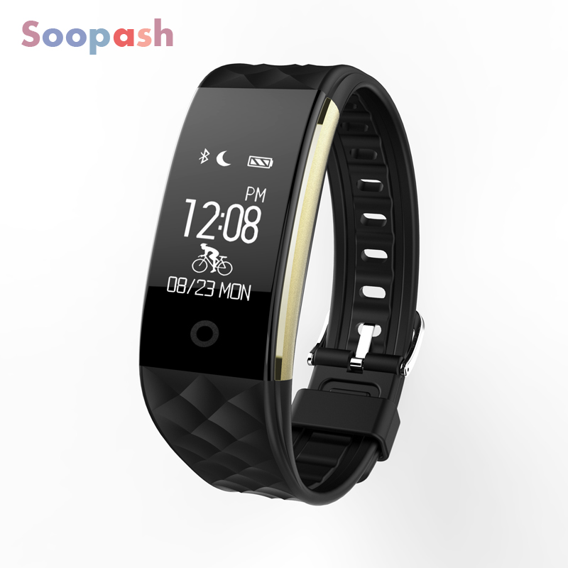 цена на S2 sport Smart Band wrist Bracelet Heart Rate Monitor IP67 Waterproof Wristband Bluetooth Smartband For iphone Android
