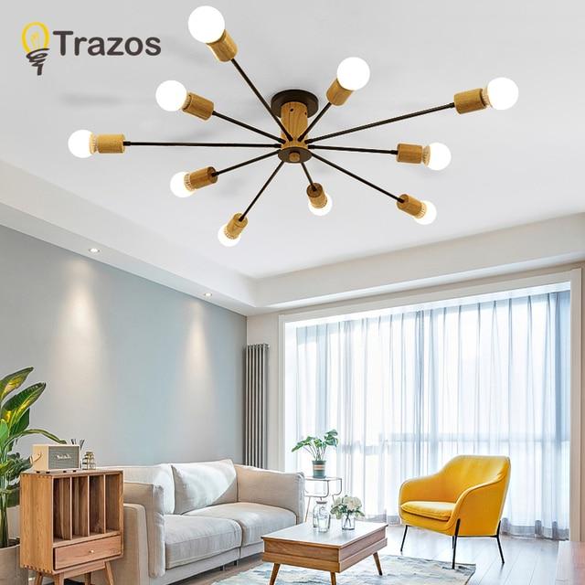 Country Ceiling Lights 10 Heads living rom Lamp E27 bulb Creative Retro Lamparas De Techo Cafe Bar Luminaria Led Home Lighting