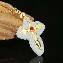 Colgante нефритовая подвеска ожерелье для мужчин женщин унисекс
