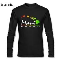 Personality T-Shirts Men Casual Tops Maui Hawaii Holiday Tee Shirt Fit Tops Adult