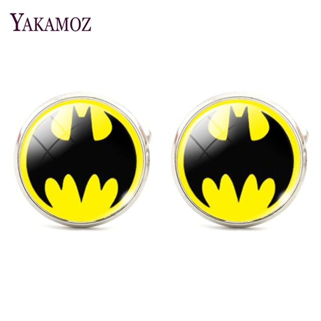 Glass Pattern Batman Cufflinks for Men Fashion Shirt
