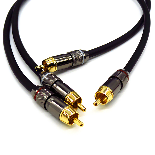 Professional Audio Cables : Monster hifi amp audio cable rca line thickened wall
