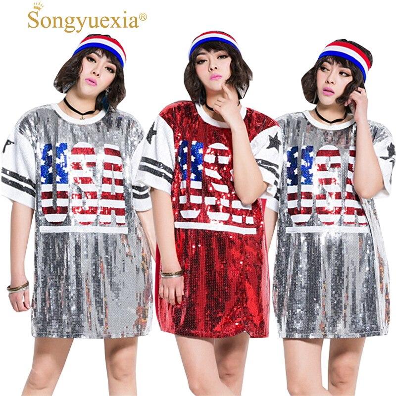 New Pattern woman Paillette Dancewear Vest Hip Pop Easy singer sequins jazz dance costumes 2colors