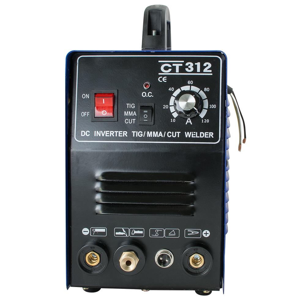 3 w 1 CT312 TIG/MMA przecinarka plazmowa spawacz palnik do spawania maszyna 110V