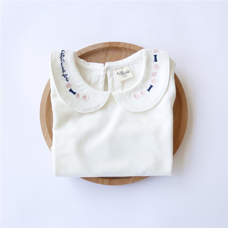 Jesen Modna odjeća za djecu Bijela udobna pamuk Slatke male djevojke - Dječja odjeća - Foto 3