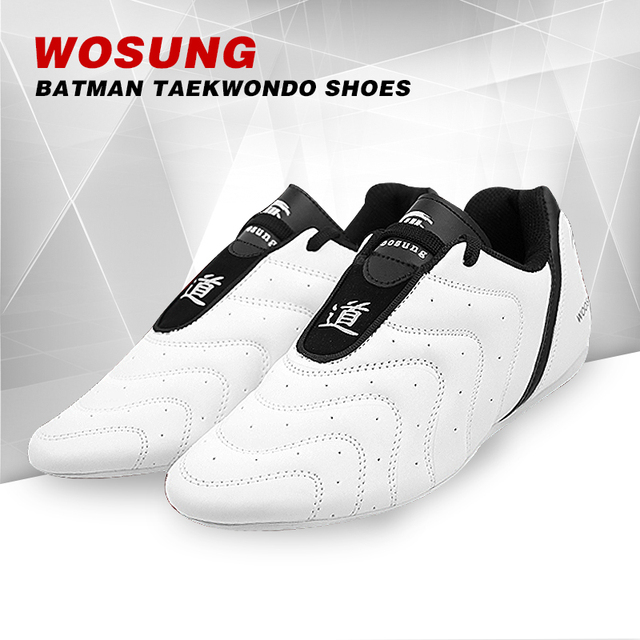 86ad61d9f2dea4 Free shipping Taekwondo shoes Child Adult WTF PU leather Breathable  Wear-resistant sneaker kicking boxing Shoes karate Shoes