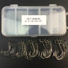 50pcs/lot sea Fishing box mustad offset hook 2#1#1/0#2/0#3/0# carp snap fishing big hooks tackles accessories free shipping