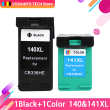 Qsyrainbow 1 PCS CL Replacement for hp140XL 141XL Ink Cartridge HP 140 141 HP140 Photosmart C4583 C4283 C4483 C5283