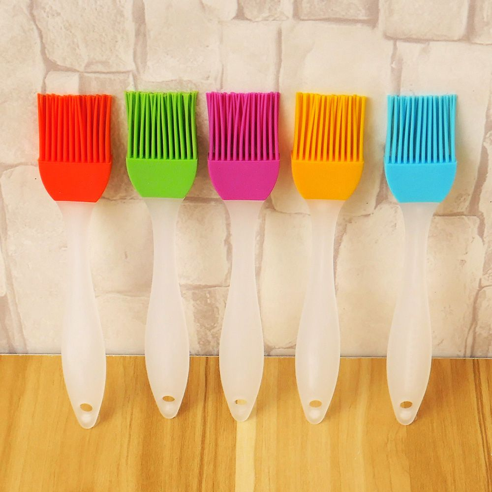 5 Colors Silicone Pastry Brush Silicone Baking Bakeware Bread Cook Brushes Pastry Oil BBQ Basting Brush Tool Kitchen Accessories