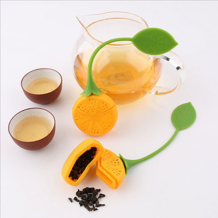 Citron feuille de thé silicone infuseur Loose Herbal Spice