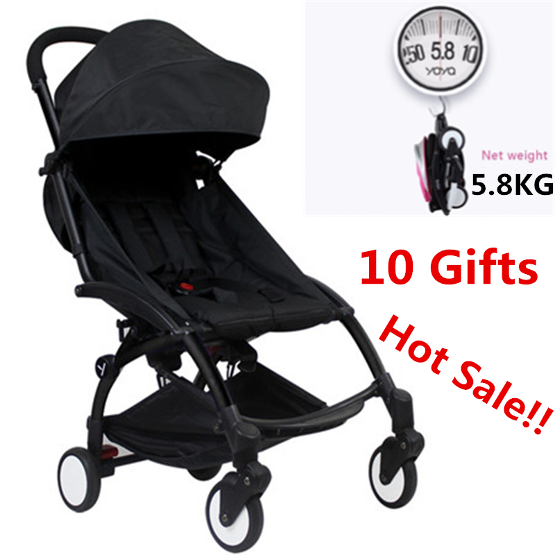 10 Accessory Super Light Aluminium Baby Stroller Umbrella Trolley Wagon Bebek Arabasi Portable Folding Baby Stroller