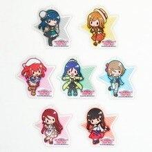 Love Live Lovelive Sunshine Aqours Over the rainbow Anime Yoshiko Hanamaru Ruby You Dia Riko Kanan Beanchain Acrylic Keychain