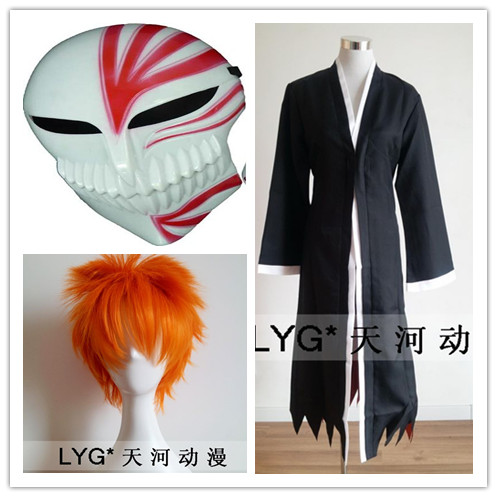 Free Shipping! Newest! Anime Bleach Cosplay - Bleach Ichigo Kurosaki Bankai Kurosaki Ichigo Cosplay Costume
