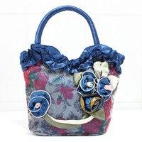 2016 New Mom Grocery Shopping And Leisure Hand Bag Small Bag Fashion Handbags Small Cloth Lace