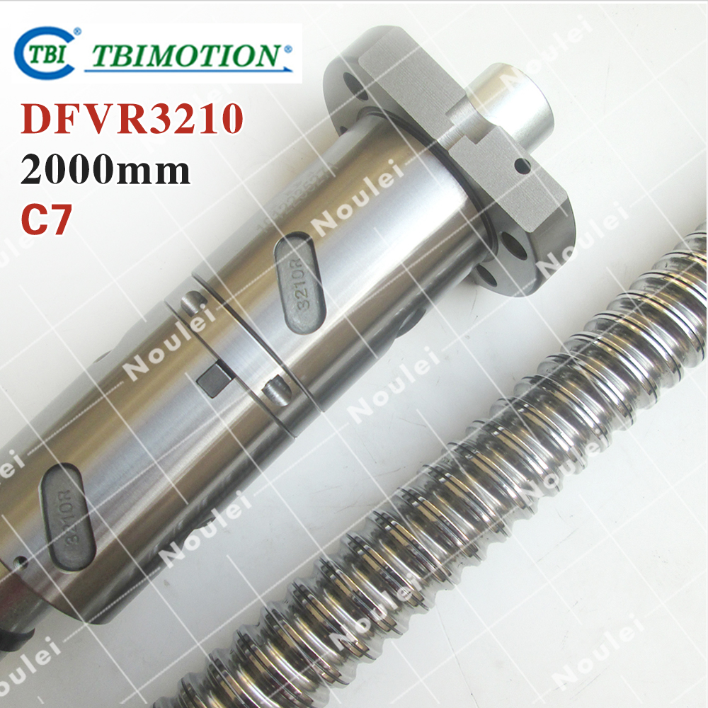 TBI ball screws 3210 L= 2000mm + 1pcs Ball nut DFV3210 / C7 ROLLED DFVR3210-4.8-D-F-C7-2000-P1 cnc part винт tbi sfkr 0802t3d