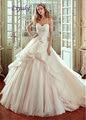 Único Organza Sweetheart A Linha de Vestido de Noiva Beading Apliques de Renda Fora Do Ombro 2 Em 1 Vestido de Noiva Sem Mangas Liyuke J138