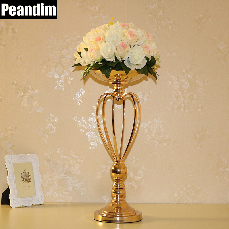 Peandim cm height metal candle holder wedding gold