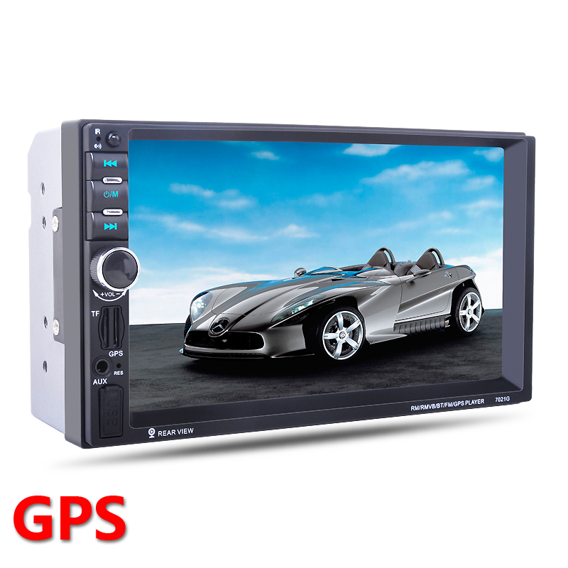 2 Din Car GPS navigation Player Bluetooth Stereo Radio FM MP3 Audio Video USB Auto Electronics autoradio Steering-Wheel Control
