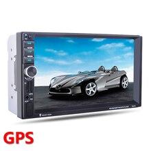 2 Din GPS Del Coche Jugador de la navegación Bluetooth Estéreo Radio FM MP3 Audio Video USB Electrónica Automotriz Volante autoradio Control