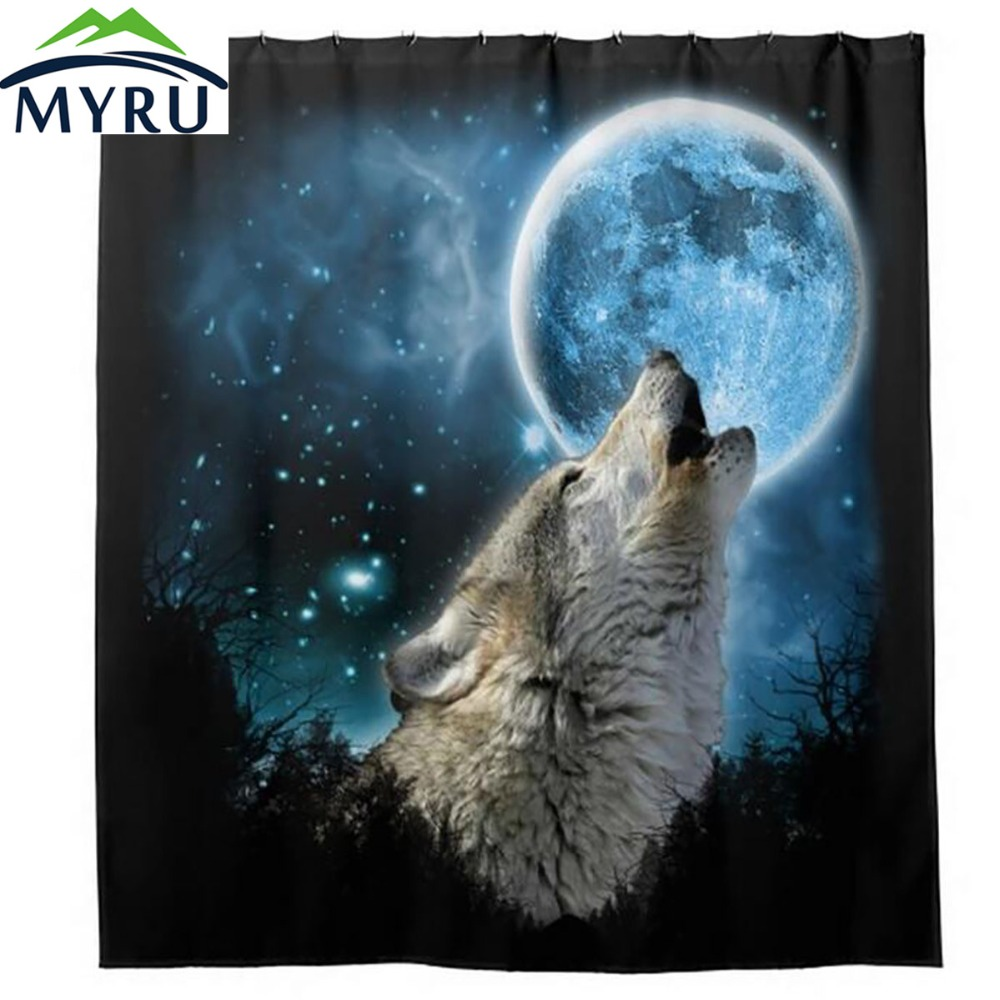 popular cool shower curtainsbuy cheap cool shower curtains lots  - myru creative white wolf whistling printing shower curtain waterproofmouldproof bathroom curtain cool shower curtain(