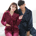 Mulheres pijamas de inverno pijamas de flanela grossa para as mulheres e homens polka dot pijama feminino inverno plus size treino terno XXXL