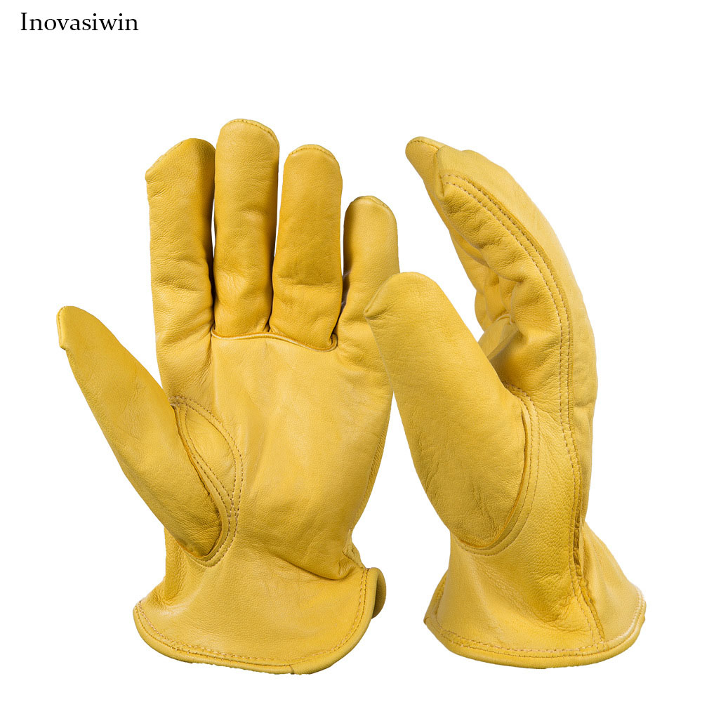 Back To Search Resultsapparel Accessories Sheepskin Driver Gloves Protective Labor Insurance Handling Full Leather Gardening Gloves