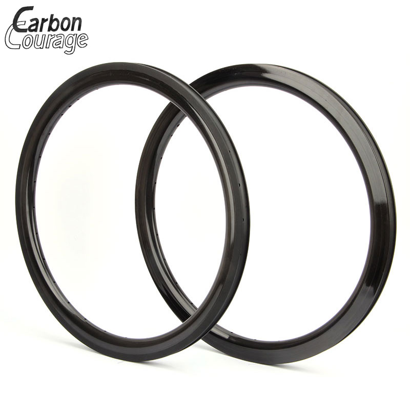 1 piece Carbon 406 Rims Clincher 30/38/50mm Depth High TG Resin 20 Inch Carbon Bike Wheels 20 Carbon 451 Wheel Cheap Promotion carbon wheels 700c 88mm depth 25mm bicycle bike rims 3k ud glossy matte road bicycles rims customize carbon rims