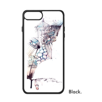 Watercolor Paint Light City Landscape Windmill Architecture Book Wall Phone Case For IPhone X 7 8